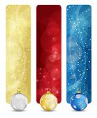 Set of winter christmas vertical banners vol. 02