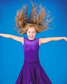Things You Need Know About Ballroom Dance Hairstyle. Ballroom Latin Dance Hairstyles. Kid Girl With  poster