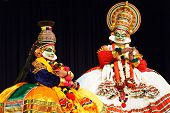 CHENNAI, INDIA - SEPTEMBER 7: Indian traditional dance drama Kathakali preformance on September 7, 2