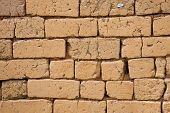 Parede de tijolos de Adobe