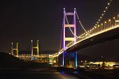 pic of tsing ma bridge  - Tsing Ma Bridge at night - JPG