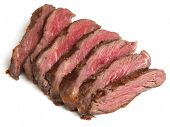 Chargrilled fillet steak sliced
