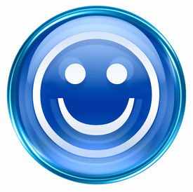 picture of smiley face  - Smiley Face blue isolated on white background - JPG