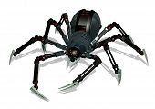 stock photo of webcrawler  - 3d render of a robot spider - JPG