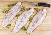 Fresh Fish Fillets With Fillet Knife