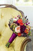 Vintage Autumn succulent floral bridal bouquet