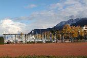 Scape cidade Evian, França