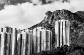Hong Kong Housing landscape under Lion Rock