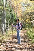 Pretty Teen Hiking