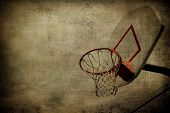 Basketball Sepia Grunge Background