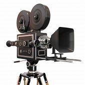 Câmera de filme vintage. 3D