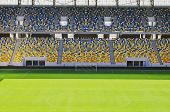 picture of bleachers  - Empty stadium  - JPG