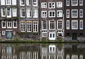 Windows From A Building In Amsterdam