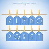 Blue alphabet set vol.2