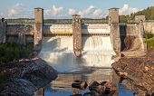 Imatrankoski - Hydroelectric Power Station Dam In Imatra, Finland. Beginning Of Spillway