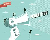 stock photo of promoter  - Web marketing promotion illustration - JPG