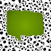 2014 Brazil World Soccer Championship, Speech Bubble Shape Illustration.