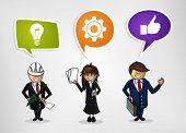 Business Teamwork Cartoon People