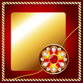 pic of rakhi  - stylish golden rakhi background with space for your text - JPG