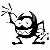 monstro engraçado dos desenhos animados