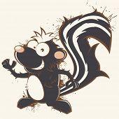 vintage cartoon skunk