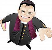 man cartoon preacher