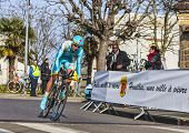 The Cyclist Egor Silin- Paris Nice 2013 Prologue In Houilles