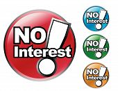 No Interest Icon Sale Set