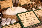 mineral bath salt and aromatic oils