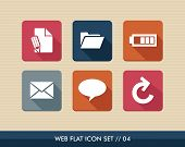 foto of status  - Web applications flat icon set social media messaging elements - JPG