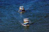 Transport Ferries Off Granville Island On False Creek Inlet Vancouver British Columbia