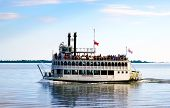 Steambout On Lake Ontario Near Toronto For A Summer Cruise