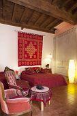 Bedroom In Red Colors