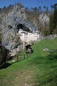 image of jousting  - The historic Predjama Grad castle in Slovenia which dates back to the twelfth century - JPG