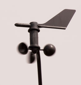 picture of wind vanes  - Wind vane and wind speed cups for weather monitor