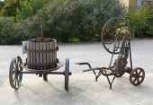 Old wine press at the vineyard in Provence, France