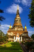 Old Big Pagoda With Cloud Sky
