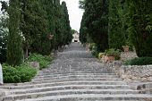 Calvary Steps at Pollensa on  Mallorca.  Spain