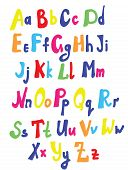 Funny font for kids cute design