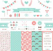 image of mustache  - Set of elements for wedding design - JPG