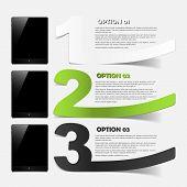 tablet concept: realistic design elements