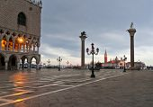 stock photo of winter palace  - Piazza San Marco with Doges Palace San Giorgio Maggiore Church and S - JPG