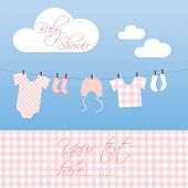 Baby Shower Invitation For a Baby Girl