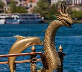Ornate Boat Decorations On The Bosphorus