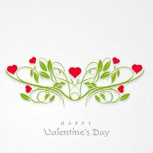 Happy Valentines Day celebration concept  with beautiful heart shape plant on grey background, can be use as poster, banner or flyer.