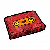 cartoon cassette tape