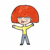 cartoon smug woman