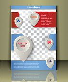 Vector travel brochure, flayer, magazine cover.