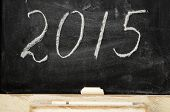 Slate Blackboard With The Inscription 2015