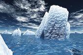 Ice Bergs in ocean